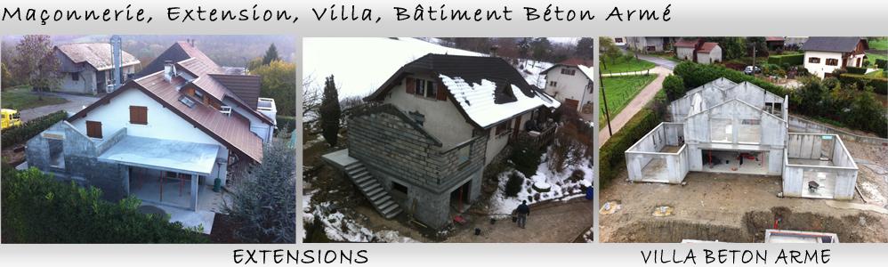 Maçonnerie, Extension, Villa, Bâtiment Béton Armé